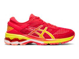 ASICS GEL Kayano 26 Women's Running Shoes - LASER PINK / SOUR YUZU