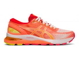 ASICS GEL Nimbus 21 Women's Running Shoes - SHINE (White / Sun Coral)