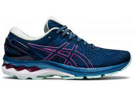 ASICS GEL Kayano 27 Women's Running Shoes - MAKO BLUE / HOT PINK