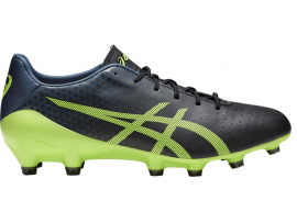 ASICS Menace Football Boots - BLACK / HAZARD GREEN