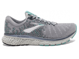Brooks Glycerin 17 Women's Running Shoes - GREY / AQUA / EBONY