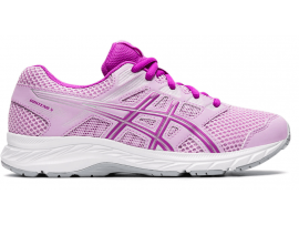 ASICS Contend 5 GS Girl's Running Shoes - ASTRAL / ORCHID