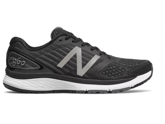 New Balance 860 v9 Men's Running Shoes - BLACK / WHITE