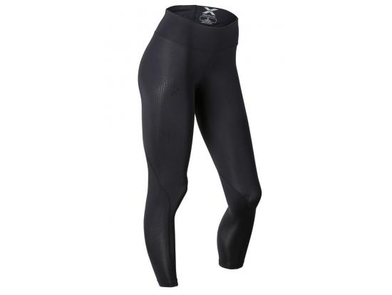 2XU Women's Mid-Rise Compression Tights - Black / Dotted Black, WA2864B