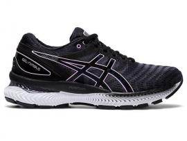 ASICS GEL Nimbus 22 Women's Running Shoes - BLACK / Lilac Tech