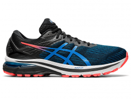 ASICS GT 2000 9 Men's Running Shoes - BLACK / DIRECTOIRE BLUE