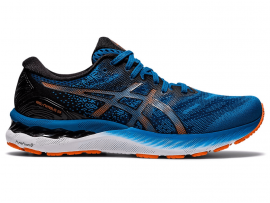 ASICS GEL Nimbus 23 Men's Running Shoes - REBORN BLUE / BLACK