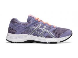 ASICS Contend 5 GS Girl's Running Shoes - ASH ROCK / SILVER