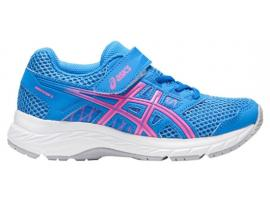 ASICS Contend 5 PS Girl's Running Shoes - BLUE COAST / HOT PINK