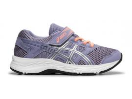 ASICS Contend 5 PS Girl's Running Shoes - ASH ROCK / SILVER