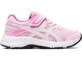 ASICS Contend 6 PS Girl's Running Shoes - COTTON CANDY / WHITE