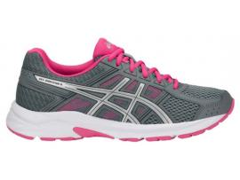 ASICS GEL Contend 4 Women's Running Shoes - STONE GREY / SILVER / HOT PINK