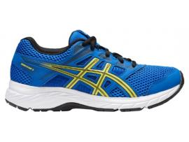 ASICS Contend 5 GS Boy's Running Shoes - ILLUSION BLUE / LEMON SPARK