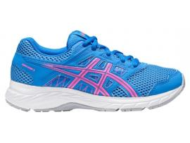 ASICS Contend 5 GS Girl's Shoes - BLUE COAST / HOT PINK