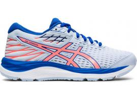 ASICS GEL Cumulus 21 GS Girl's Running Shoes - SOFT SKY / SUN CORAL