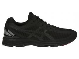 ASICS GEL DS Trainer 23 Men's Running Shoes - BLACK / BLACK / FLASH CORAL