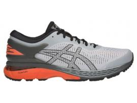 ASICS GEL Kayano 25 Men's Running Shoes - MID GREY / NOVA ORANGE