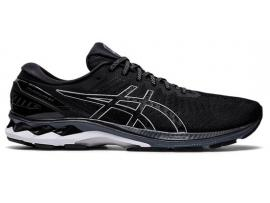 ASICS GEL Kayano 27 Men's - BLACK / PURE SILVER (2E WIDE)