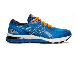ASICS GEL Nimbus 21 Men's Running Shoes -  ELECTRIC BLUE / MIDNIGHT