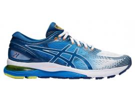 ASICS GEL Nimbus 21 Men's Running Shoes -  WHITE / LAKE DRIVE
