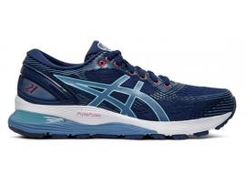 ASICS GEL Nimbus 21 Women's Running Shoes - BLUE EXPANSE / GREY FLOSS