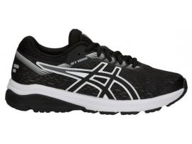 ASICS GT 1000 7 GS Boy's Running Shoes - BLACK / WHITE