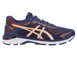 ASICS GT 2000 7 Men's Running Shoes - INDIGO BLUE / SHOCKING ORANGE