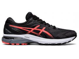 ASICS GT 2000 8 Women's Running Shoes - BLACK / SUNRISE RED