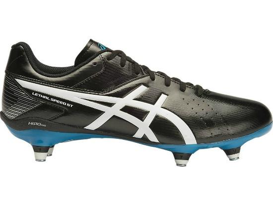 ASICS Lethal Speed ST Football Boots - BLACK / WHITE / METHYL BLUE