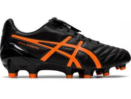 ASICS Lethal Testimonial 4 IT Football Boots - BLACK / SHOCKING ORANGE