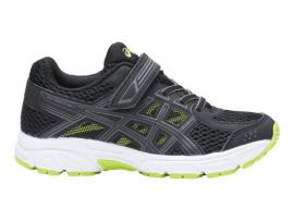 ASICS Pre Contend 4 PS Boy's Running Shoes - BLACK / NEON LIME