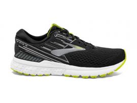 Brooks Adrenaline GTS 19 Men's Running Shoes - BLACK / SILVER / LIME