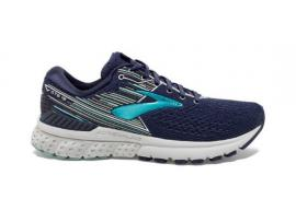 Brooks Adrenaline GTS 19 Women's Running Shoes - NAVY / AQUA / TAN