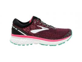 Brooks Ghost 11 Women's Running Shoes - BLACK / PINK / AQUA