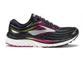 Brooks Glycerin 15 Women's Running Shoes - BLACK / PINK PEACOCK / PLUM CASPIA