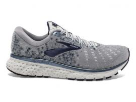 Brooks Glycerin 17 Men's Running Shoes - GREY / NAVY / WHITE