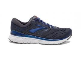 Brooks Transcend 6 Men's Running Shoes - EBONY / BLUE / MANDARIN