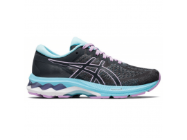 ASICS Gel Kayano 27 GS Girls Running Shoes - CARRIER GREY/LILAC TECH