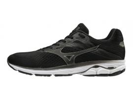 Mizuno Wave Rider 23 Men's Running Shoes - BLACK / MET SHADOW