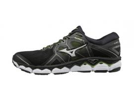 Mizuno Wave Sky 2 Men's Running Shoes - BLACK / SAFETY YELLOW