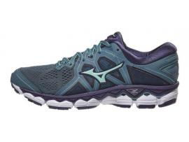 Mizuno Wave Sky 2 Women's Running Shoes - BLUE MIRAGE / BROOK GREEN