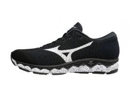 Mizuno WaveKnit S1 Men's Running Shoes - BLACK / WHITE