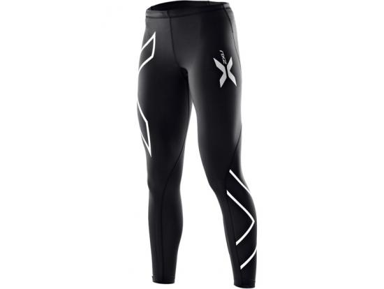 2XU Women's Compression Tights - Black / Silver, WA4173b
