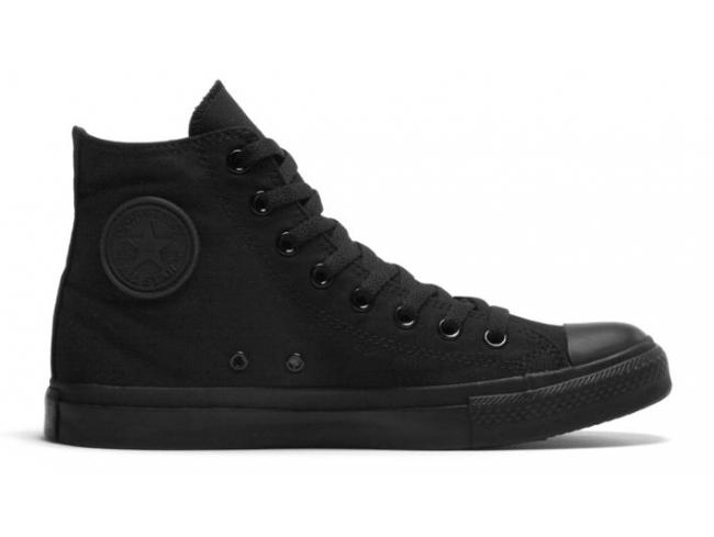 33efc3b95dc8f7 Converse Chuck Taylor - All Star Hi BLACK MONOCHROME  Discounted