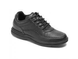 Rockport World Tour Men's Walking Shoes - BLACK TUMBLED/ BLACK SMOOTH